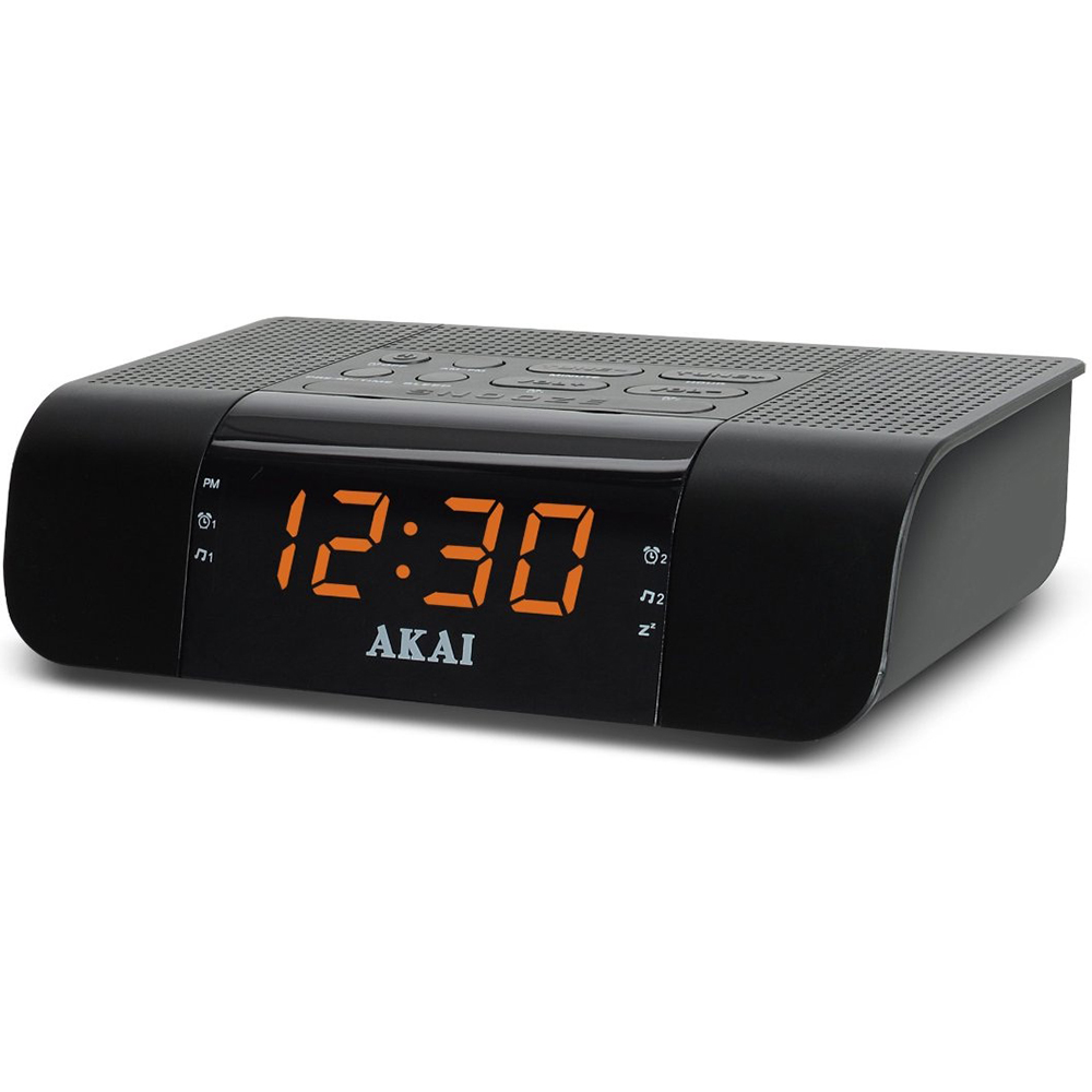 akai digital led display fm alarm clock radio w fast charging 2 4a usb port ebay. Black Bedroom Furniture Sets. Home Design Ideas