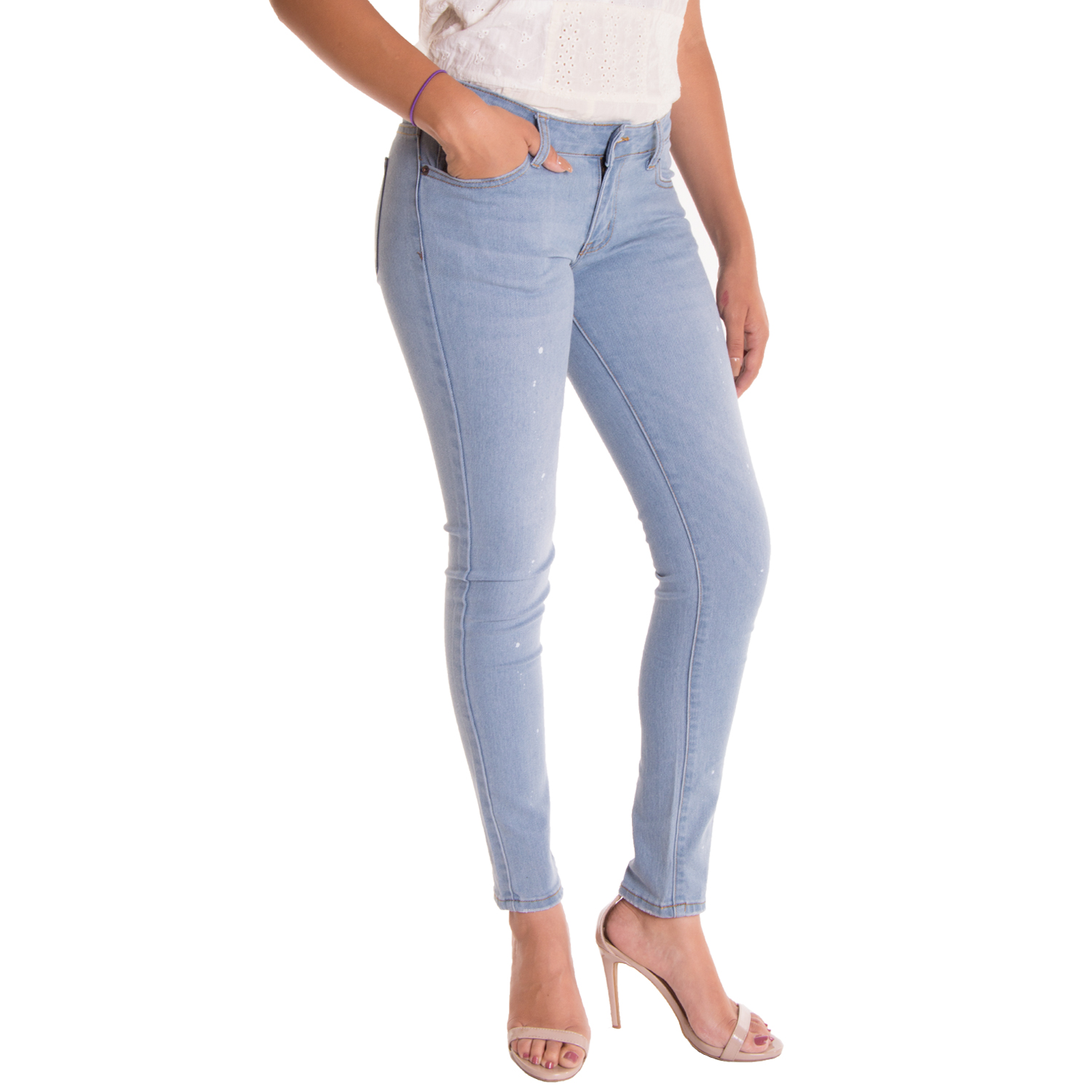 Alta Womenu0026#39;s Skinny Jeans Designer Fashion Stretch Pants Paint Splash Denim | eBay