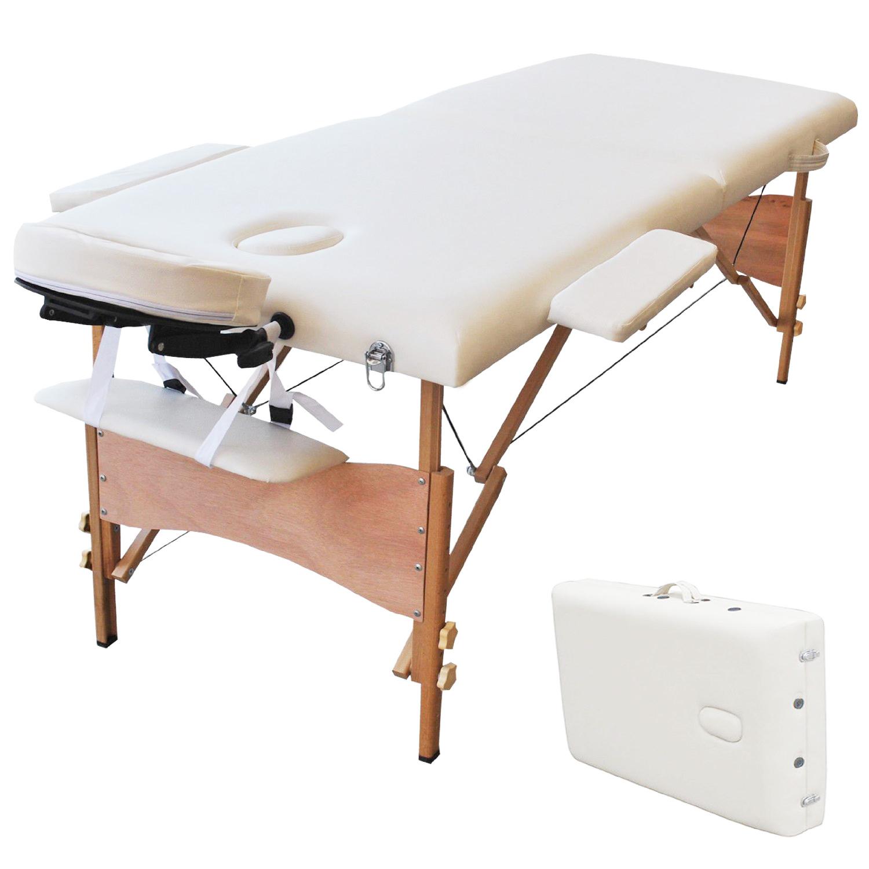 Professional portable 2 foam folding massage table w face cradle head rest - Massage table professional ...