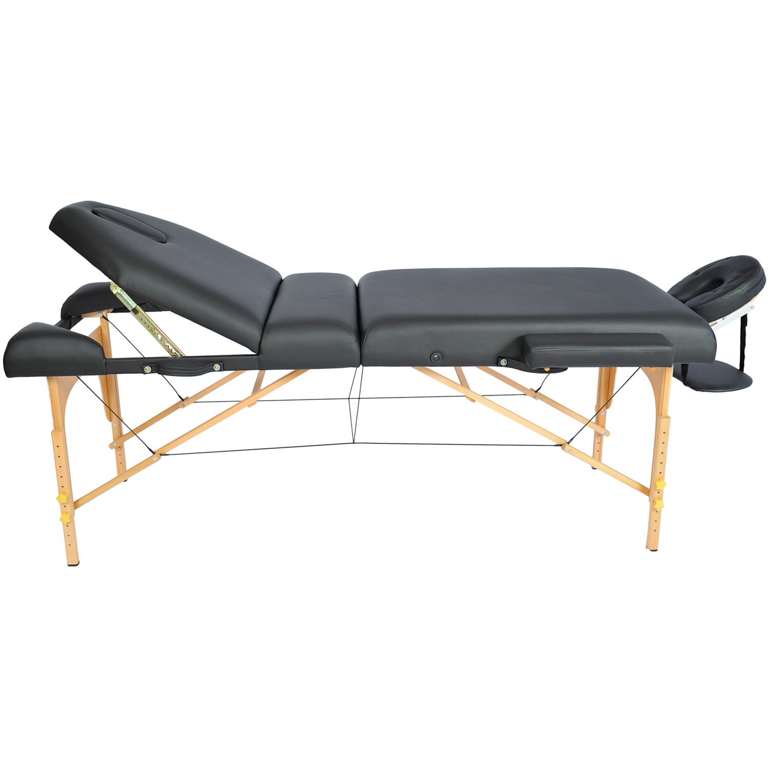 Professional portable 4 foam folding adjustble back massage table w face cradle ebay - How much is a massage table ...