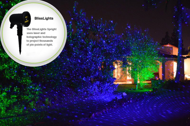 Blisslights Spright Firefly Outdoor Indoor Projecting Laser Show Lawn ...
