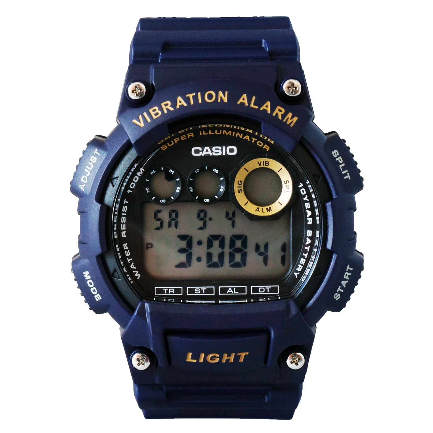 Casio Men's Viabration Alarm Multi-Function Chrono Digital Sports Watch - W735H