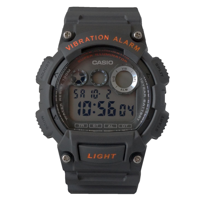 Casio Men's Viabration Alarm Multi-Function Chrono Digital Sports Watch - W735H