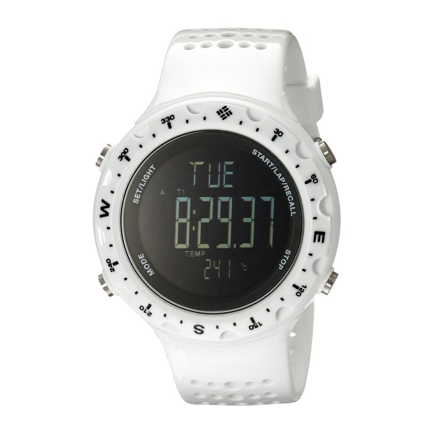 Columbia CT004 Men's Singletrak Digital Display Quartz Watch (White)