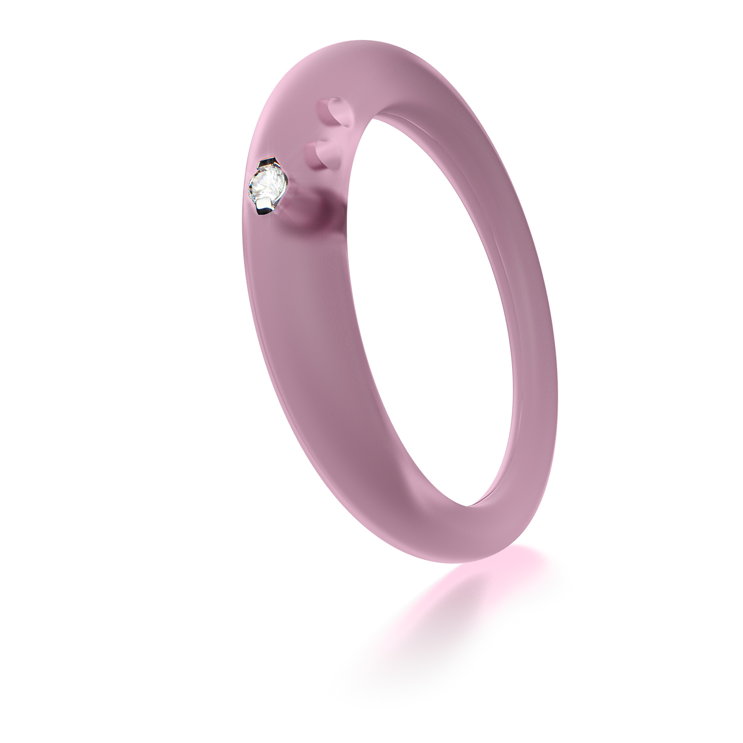 Silicone Ring With Diamond >> Duepunti Diamond Round Cut Stone Silver & Silicone Women's Jewelry Fashion Ring | eBay