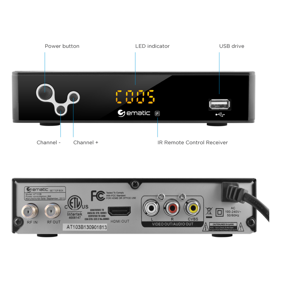 AUTO; 169 Pillar Box 169 Pan u0026Scan 43 Letter Box 43 Pan u0026 Scan 43 u2022 Full 169 Wide Screen  sc 1 st  Altatac & Ematic DVR Recorder Television HDMI Media Player Converter Box w ... Aboutintivar.Com