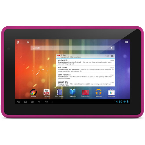 "Ematic 7"" 4GB Google Android 4.1 Wifi Tablet w/ Amazon App Store EGS006 -Pink at Sears.com"