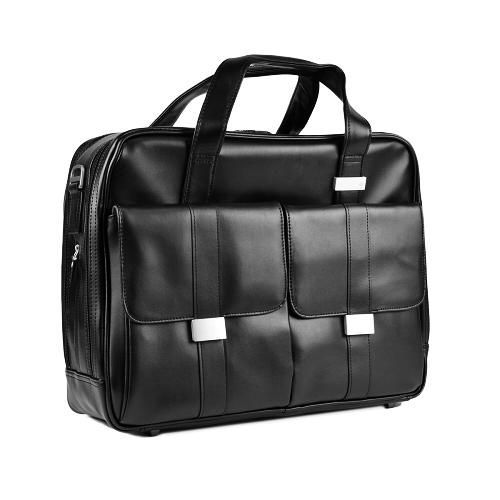"""HP 15.6"""" Elite Black Leather Top Load Laptop Case Bag w/Adjustable Strap at Sears.com"""