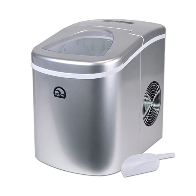Countertop Ice Maker Soft Ice : Igloo Silver Portable Countertop Ice Maker w/ Scoop - ICE108SB eBay
