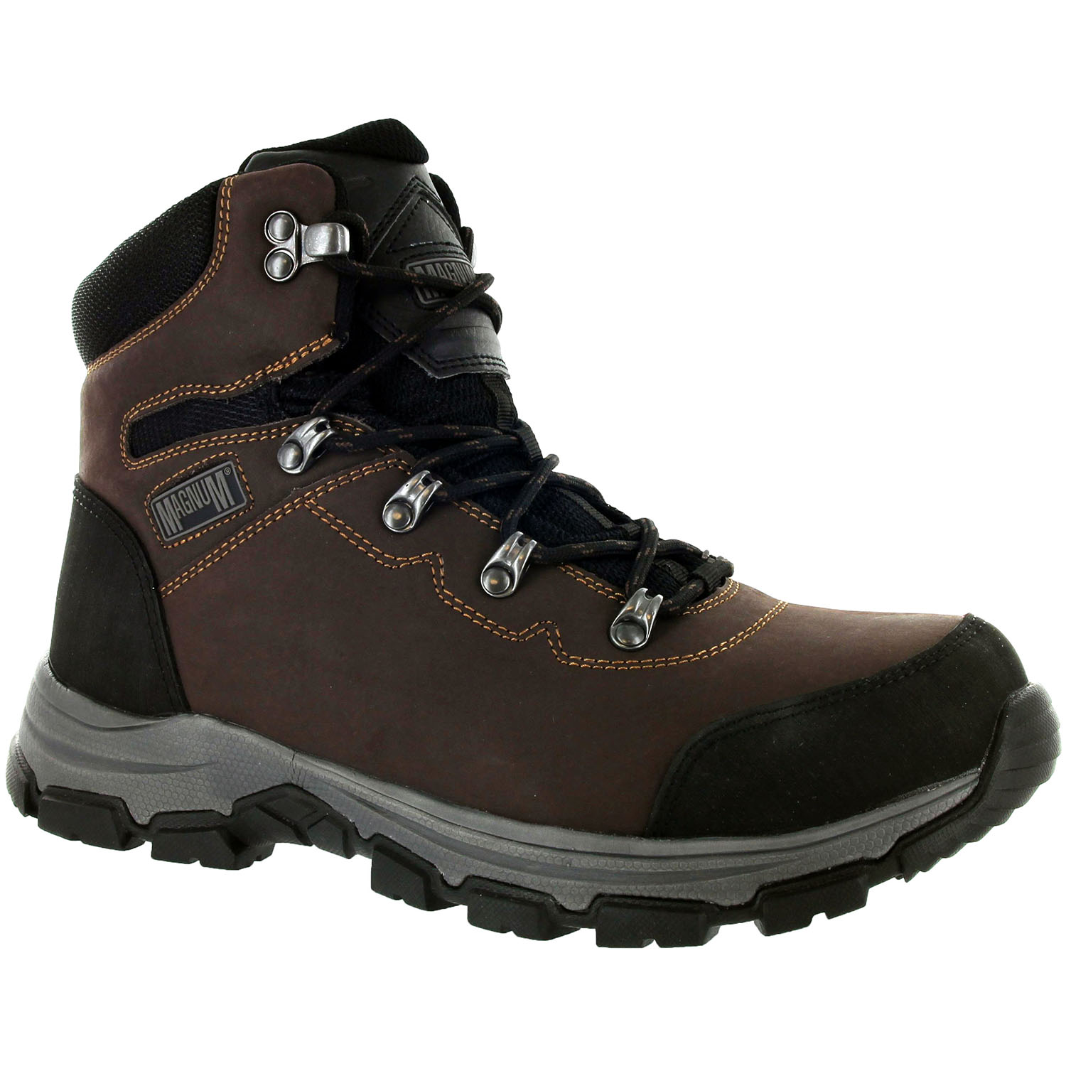 Magnum Austin Low/Mid Waterproof Steel Toe Slip Resistant Leather ...