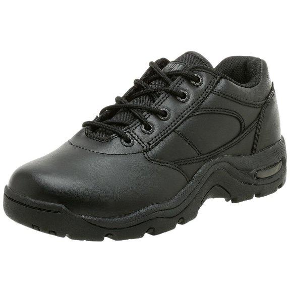 magnum viper low slip resistant black leather work shoes