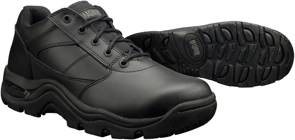 Magnum Viper Low Slip Resistant Black Leather Work Shoes/Boots ...