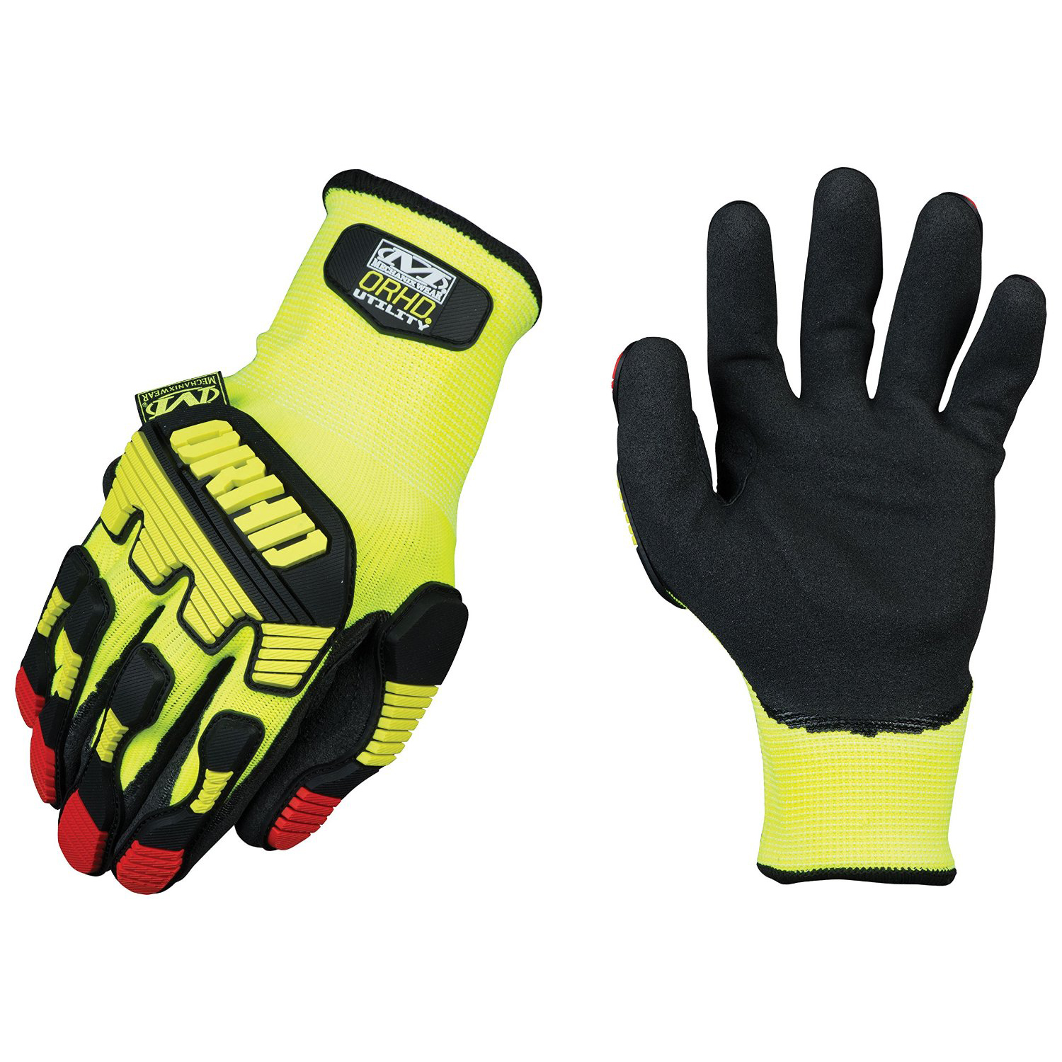 Leather work gloves ebay - Mechanix Wear Orhd Knit Impact Protection High Visibility Work Utility Gloves
