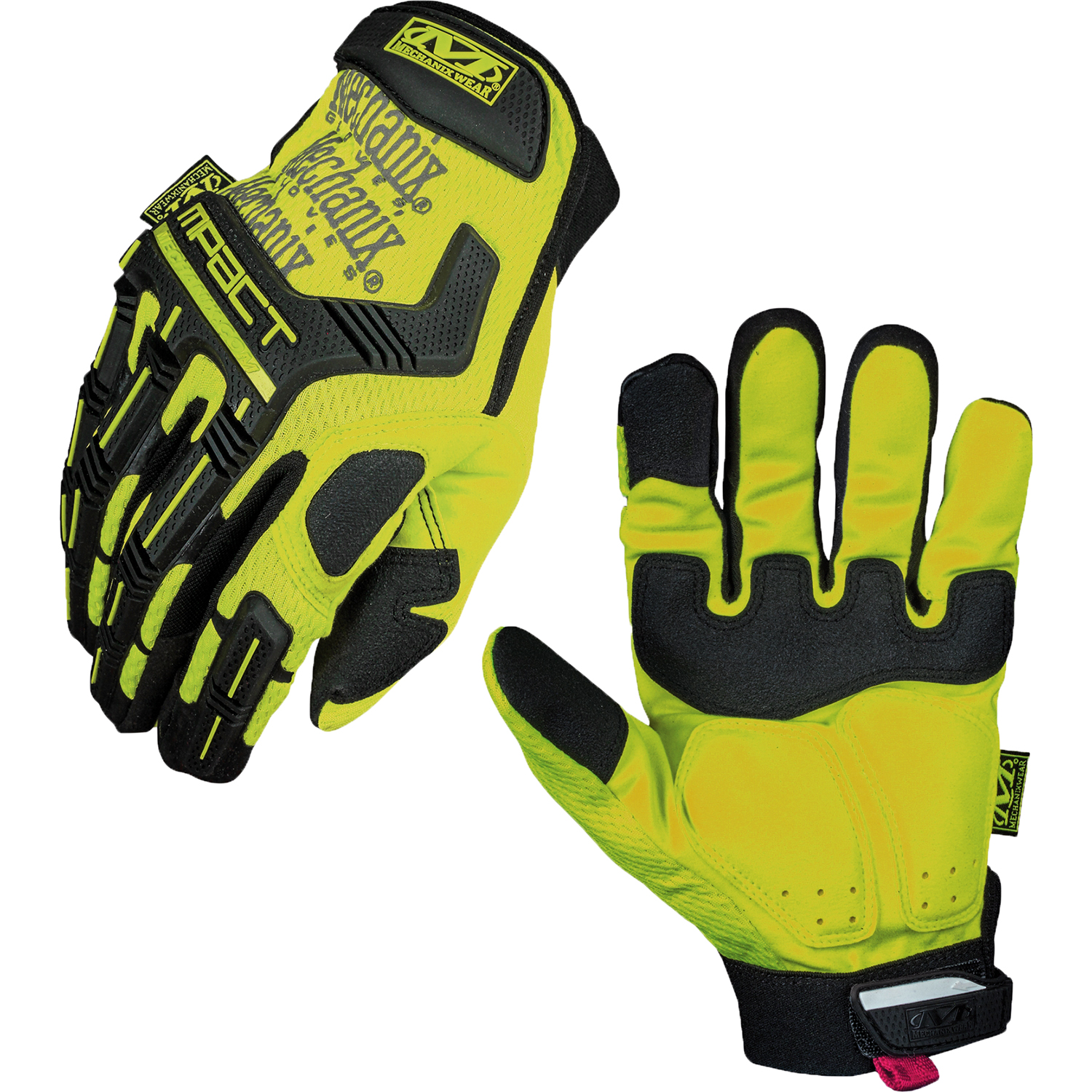 Leather work gloves m pact 2 - Mechanix Wear Safety M Pact Protection High Visibility