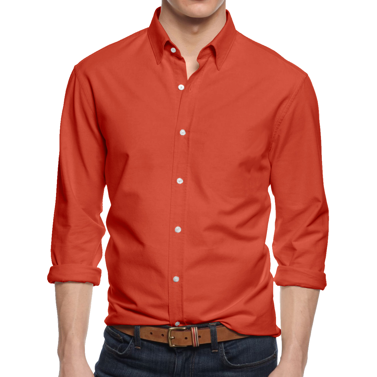 Alta men 39 s long sleeve button down cotton slim fit pointed for Slim fit cotton shirts