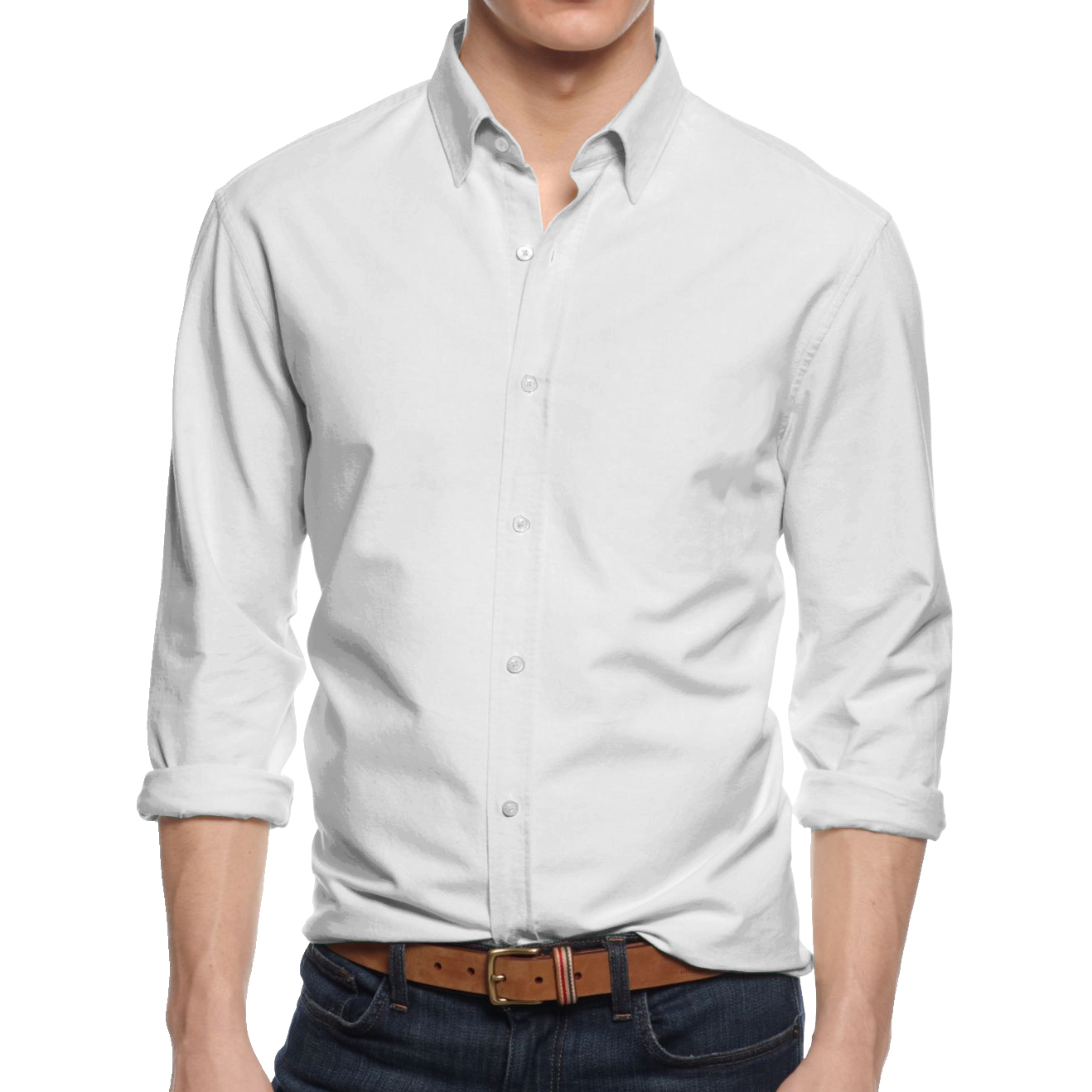 Alta men 39 s long sleeve button down cotton slim fit pointed for Fitted shirts for mens