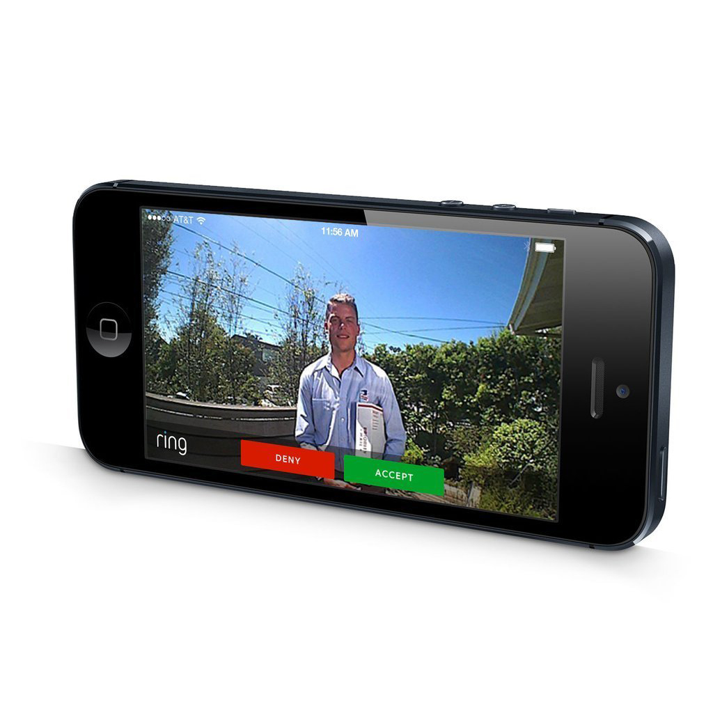 Ring Wi Fi Enabled 720p Hd Video Doorbell With Iphone