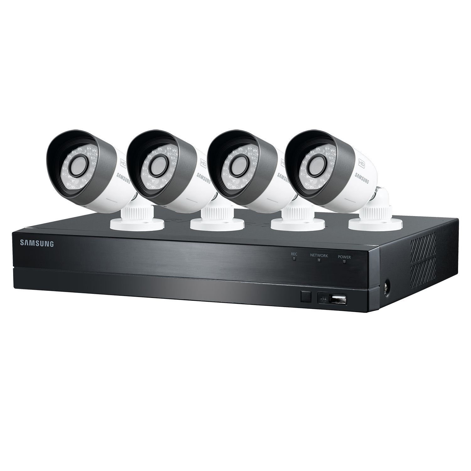 samsung 1tb dvr video security system 720p 4 channel 4 night vision cameras ebay. Black Bedroom Furniture Sets. Home Design Ideas