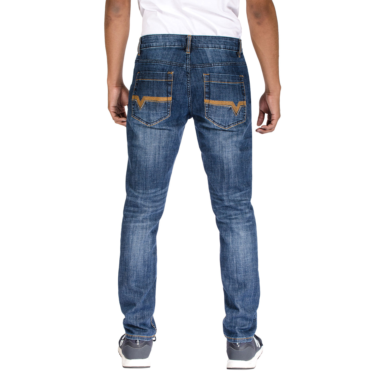 Alta Denim Men/'s Stretch Skinny Slim Fit 5-Pocket Fashion Jeans