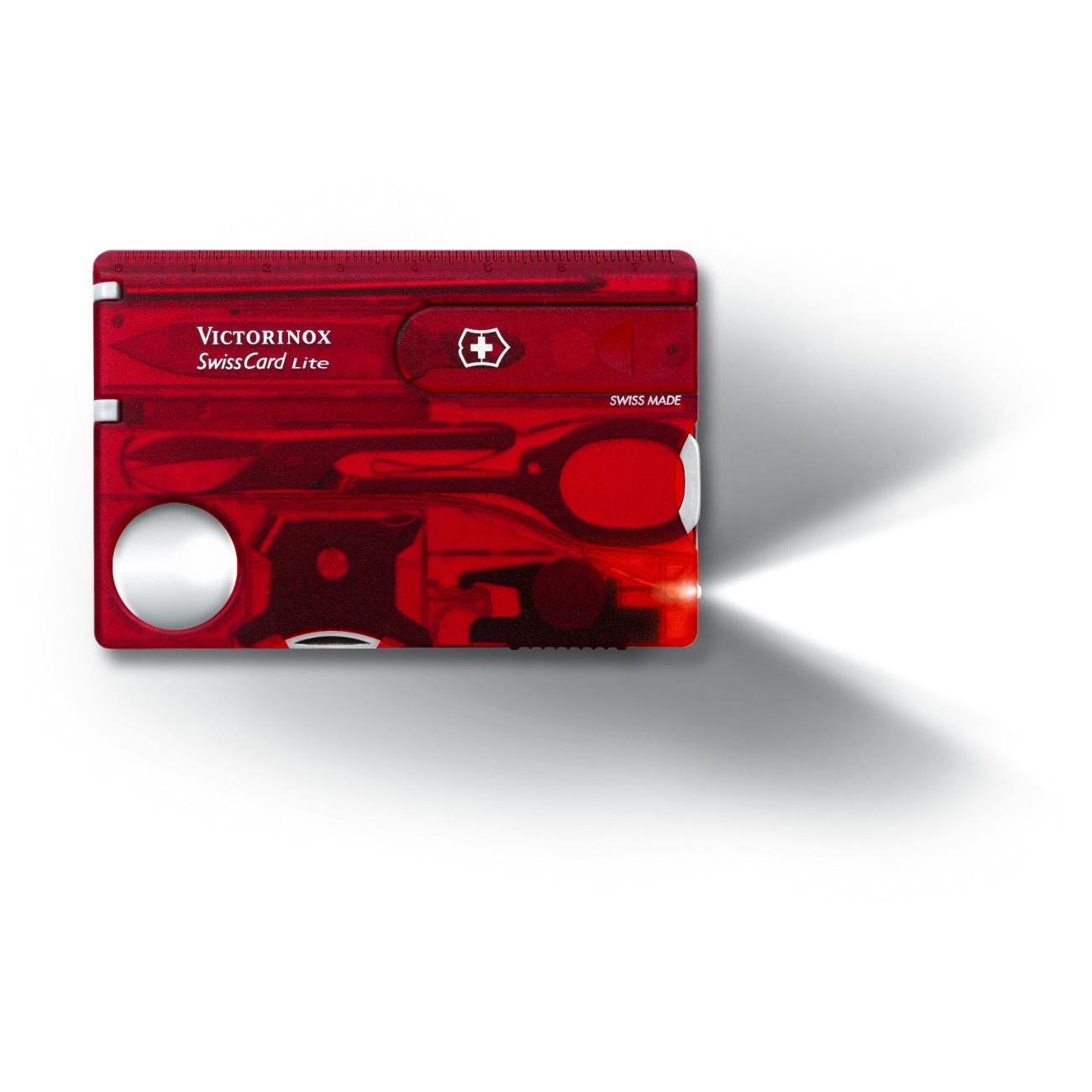 Victorinox Swiss Army Swisscard Lite Wallet Multi Tool - Fire Orange - 53331
