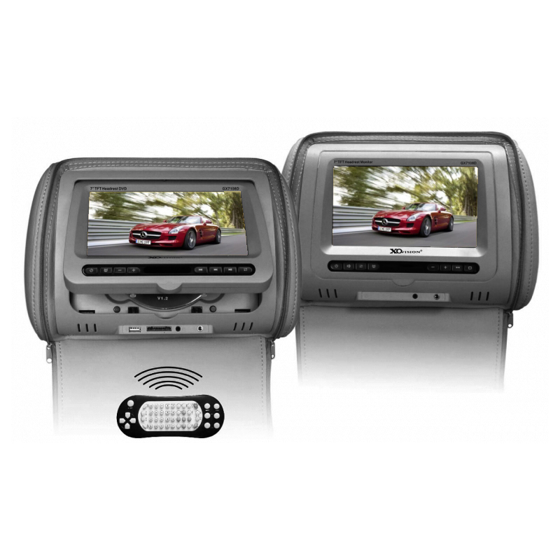 XO Vision GX7108D 7-Inch Headrest Monitor w/ DVD Player/Games & Control - Gray at Sears.com