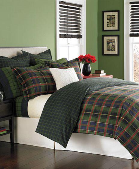 Martha Stewart Haymarket Plaid Flannel Comforter Cover