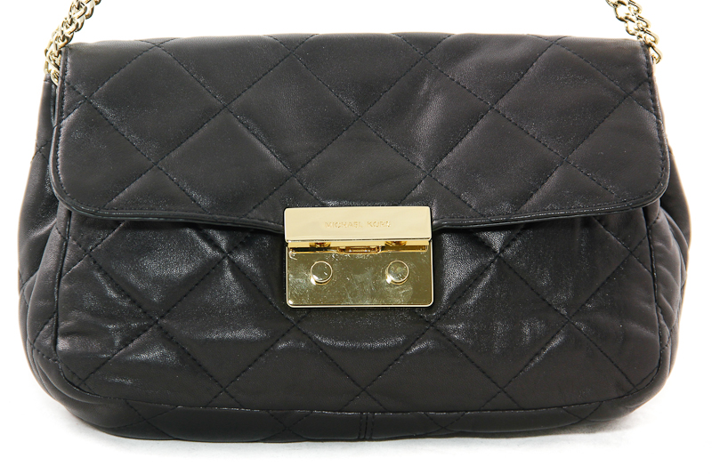 Michael Michael Kors Large Sloan Quilted Shoulder Bag Black 81