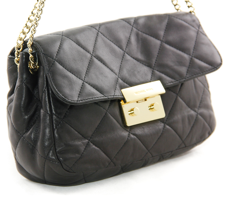 Michael Michael Kors Large Sloan Quilted Shoulder Bag Black 66