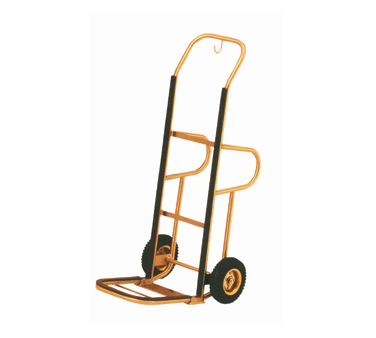 "Aarco Products Aarco HT-1B Hand Truck 1"" brass tubular frame, 8"" pneumatic wheels at Sears.com"