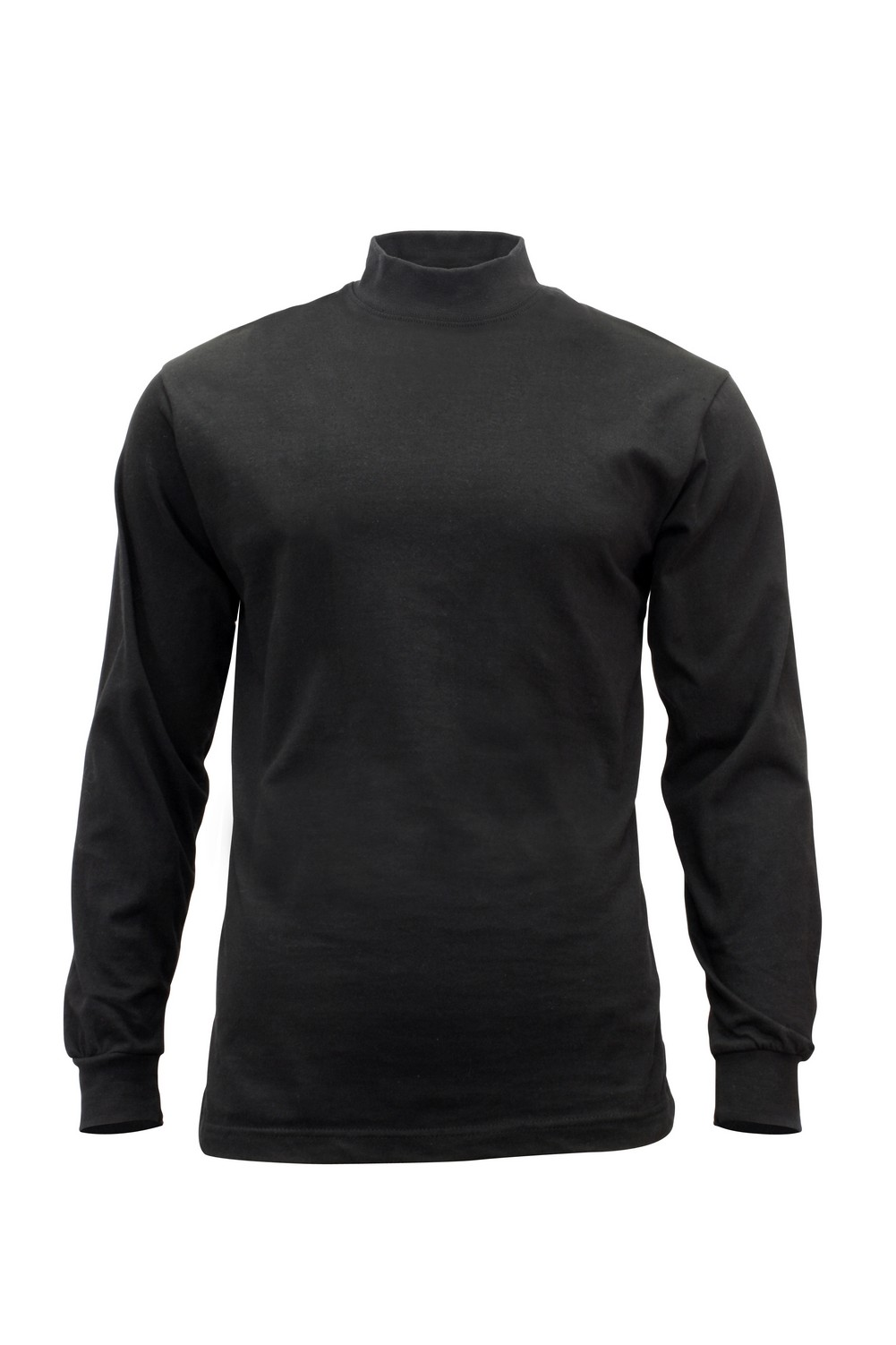 Rothco Mens T-Shirt - Long Sleeve Solid Mock Turtleneck, Black by Rothco at Sears.com