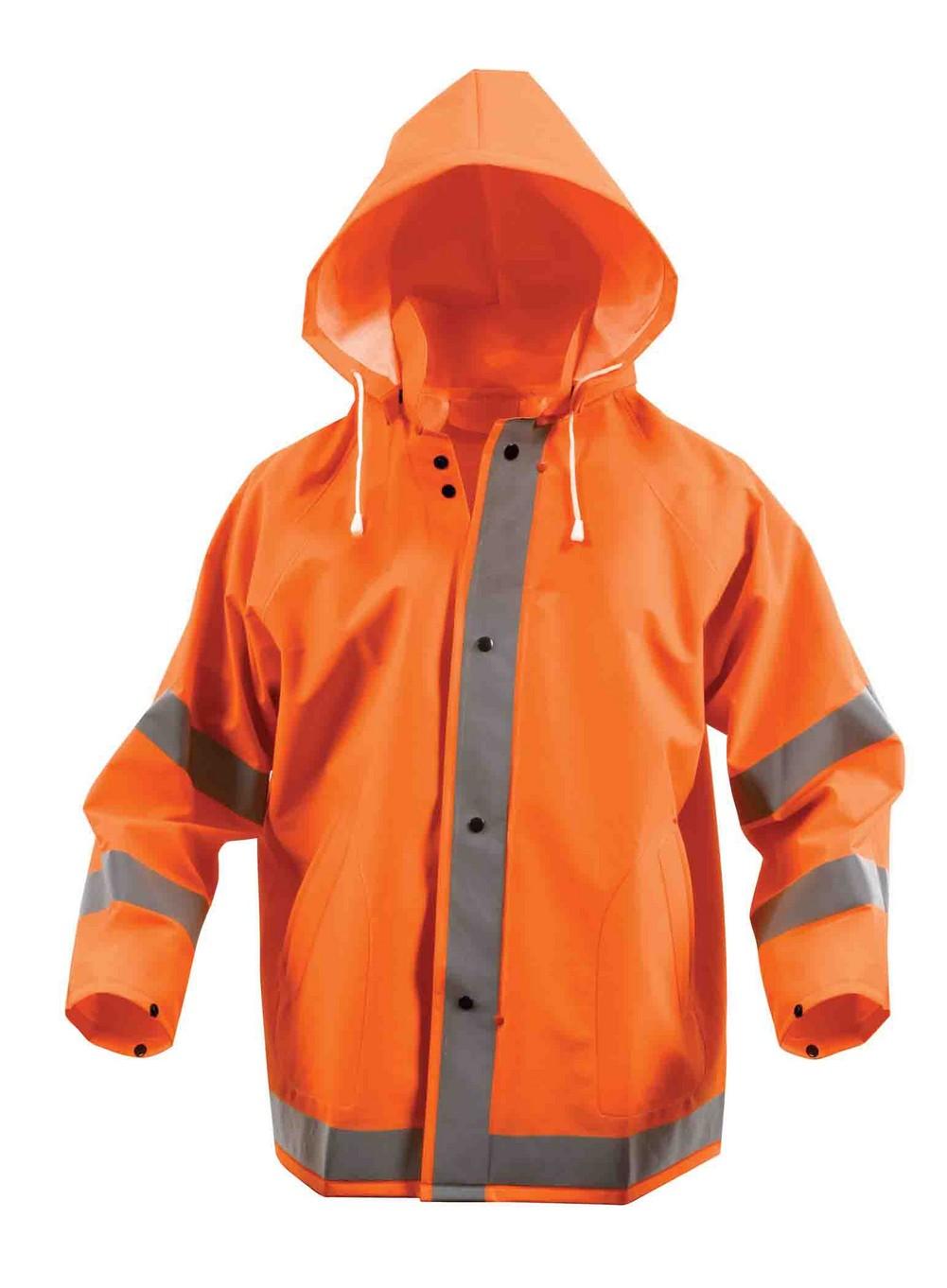 Rothco Mens Rain Jacket - Safety Reflective, Safety Orange by Rothco at Sears.com