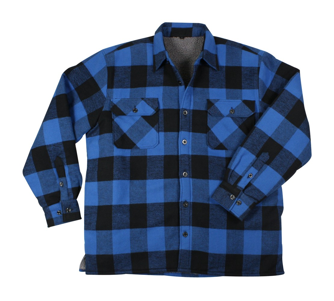 Rothco Mens Flannel Shirt - Heavyweight Sherpa Lined, Blue by Rothco at Sears.com