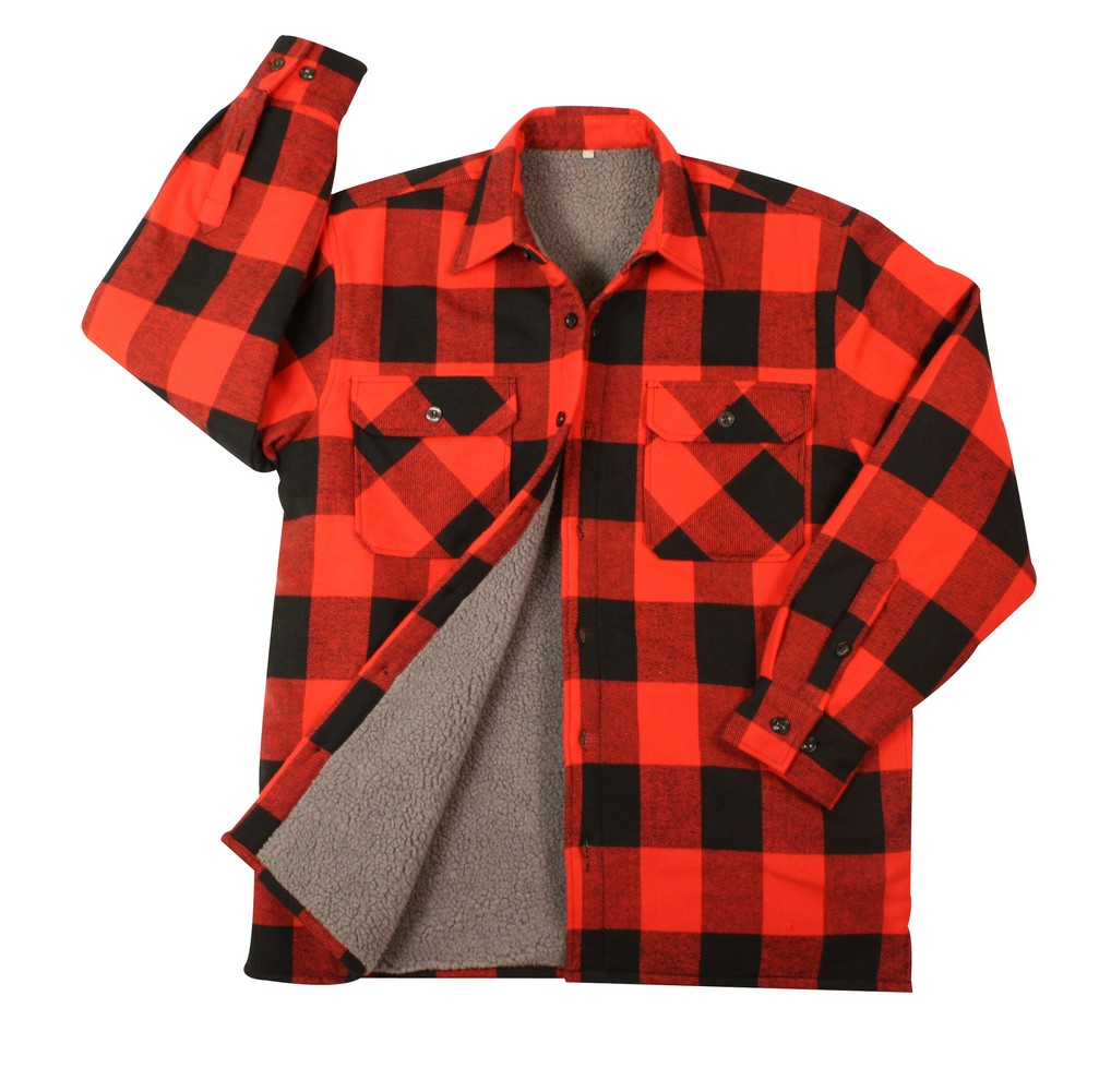 Rothco Mens Flannel Shirt - Heavyweight Sherpa Lined, Red by Rothco at Sears.com