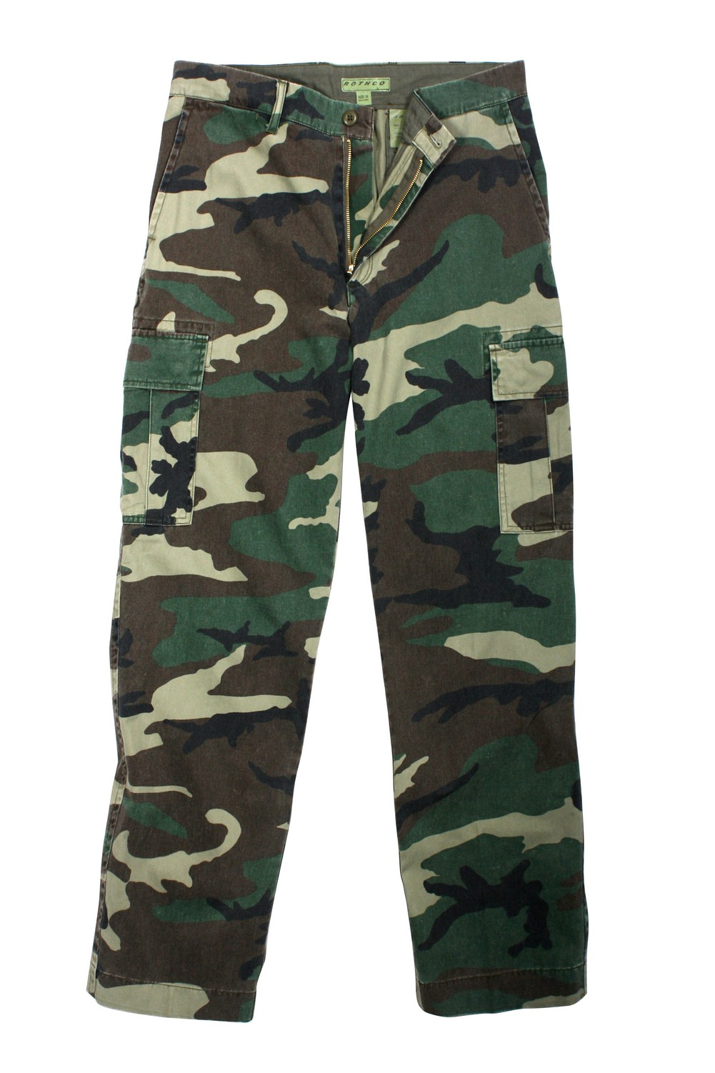 Rothco Mens Pants - Flat Front Vintage Cargo, Woodland Camo by Rothco at Sears.com