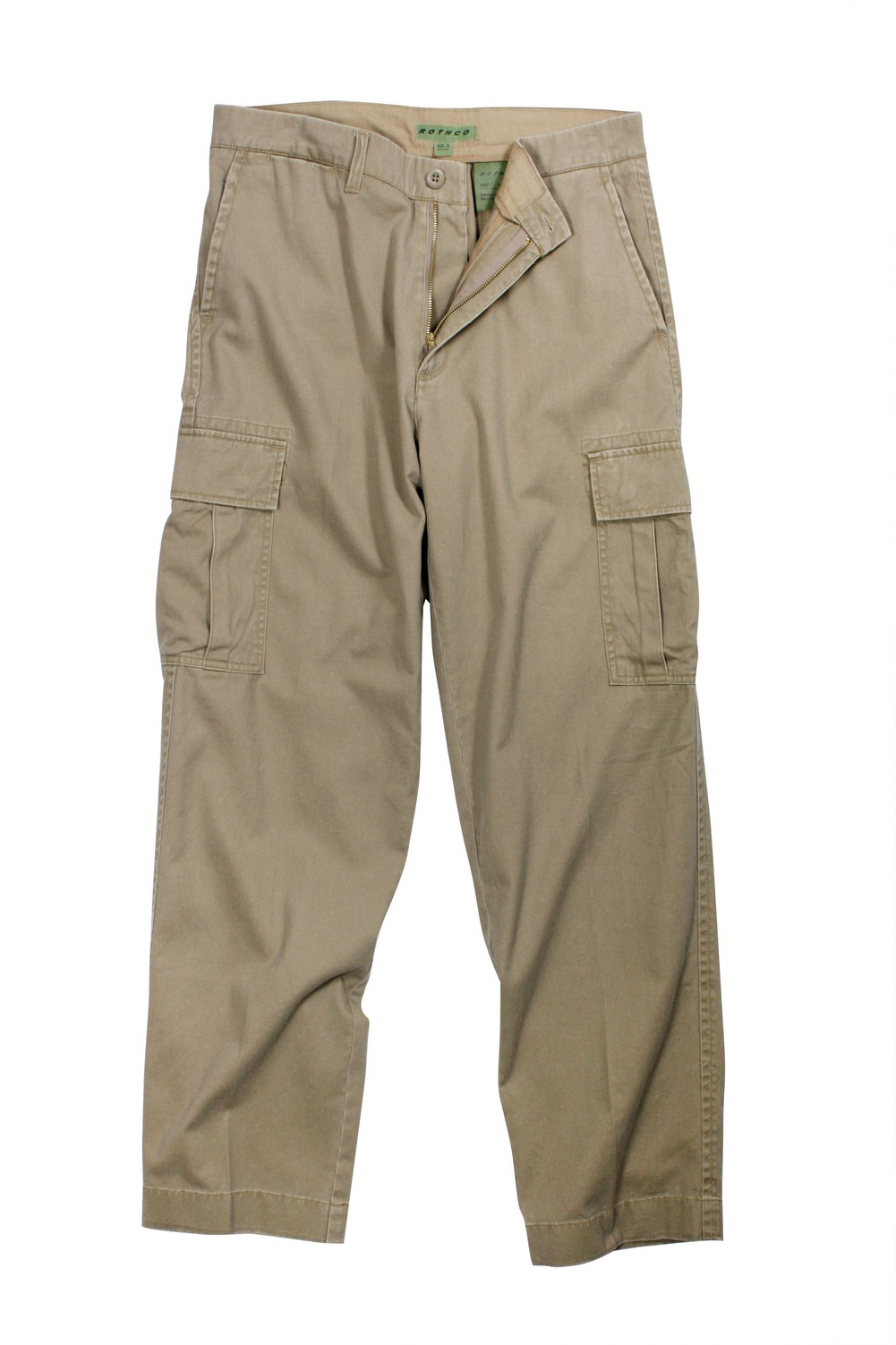 Rothco Mens Pants - Vintage Flat Front Cargo, Khaki by Rothco at Sears.com
