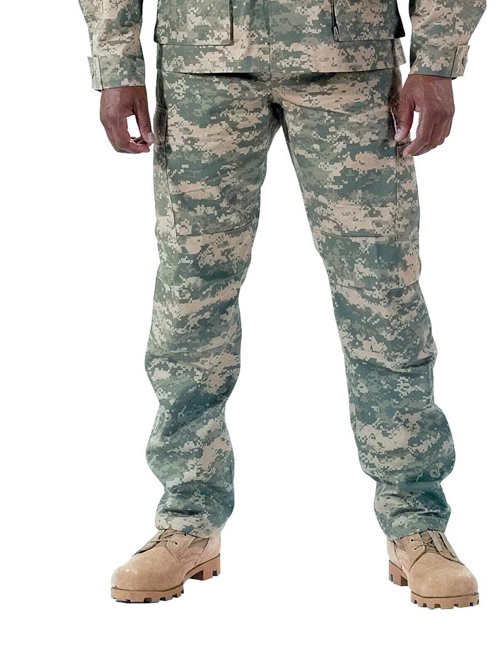 Rothco Mens Pants - Military BDU, ACU Digital Camo, Long Length by Rothco