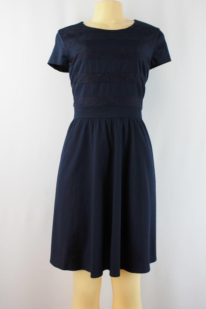 Cynthia Steffe Cynthia Steffe Lace Cap Sleeve Dress Blue Night Size 10