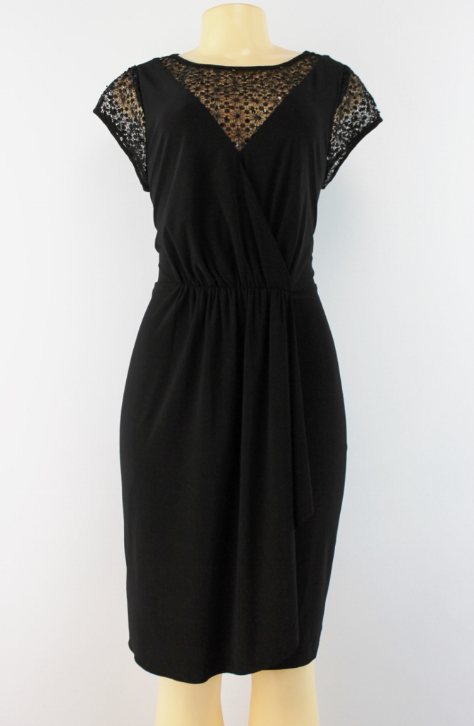 Black Lace Cocktail Dress Size 16 - Plus Size Masquerade Dresses