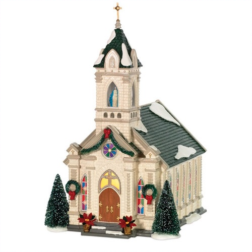 Department 56 Snow Village Our Lady of Grace Church at Sears.com
