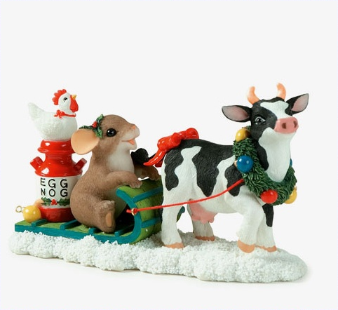 Fitz & Floyd Charming Tails Moo-ey Christmas Retired at Sears.com