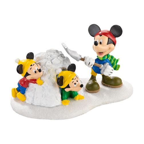 Disney Village Department 56 Disney Village Mickey Snow Fort Fun! 2013 at Sears.com