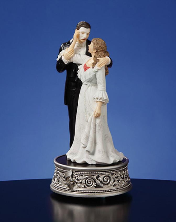 Phantom-of-the-Opera-Phantom-Christine-25-Yrs-Figurine-Music-Box-NIB
