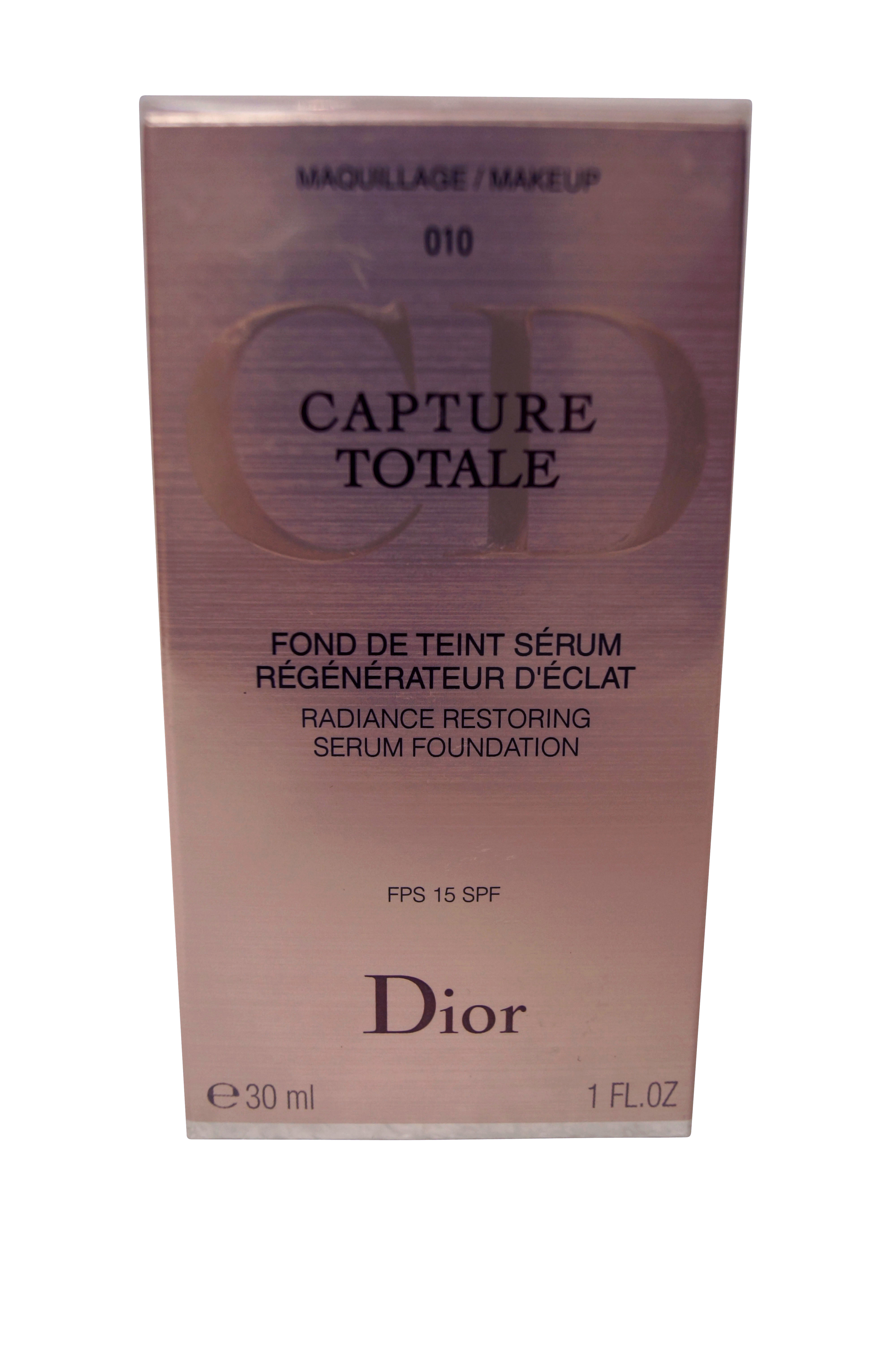 Christian Dior Capture Totale Restoring Serum Foundation 010 Ivoire Ivory at Sears.com