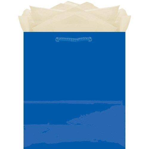 Amscan Medium Blue Small Tote Paper Gift Bags Celebrations Parties Birthdays Glossy at Sears.com