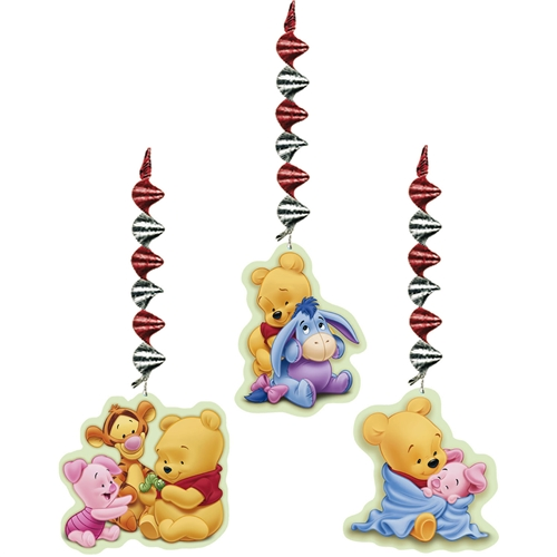 Winnie The Pooh Baby Shower Supplies Danglers Decorations 3 Each