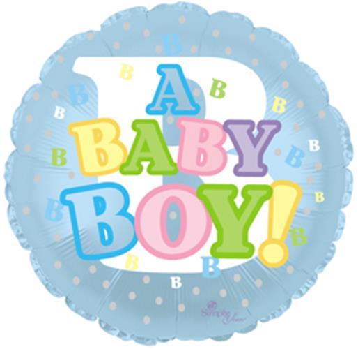 "Mylar Foil Balloon 18"" It's A Baby Boy Shower Gift Ideas Pastel Colors Letter"