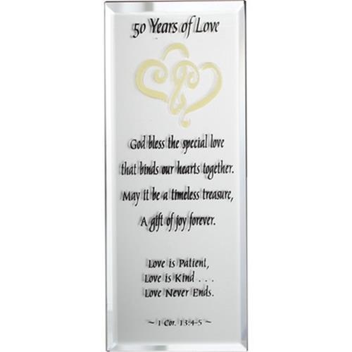 50 Years Wedding Anniversary Gift Idea : ... -Mirrored-Plaque-50-Years-of-Love-50th-Wedding-Anniversary-Gift-Ideas