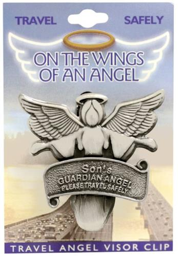 DM Merchandising SON Travel Guardian Angel Vehicle Visor Clip 2.5 in. x 2.5 in. Birthday Gift at Sears.com