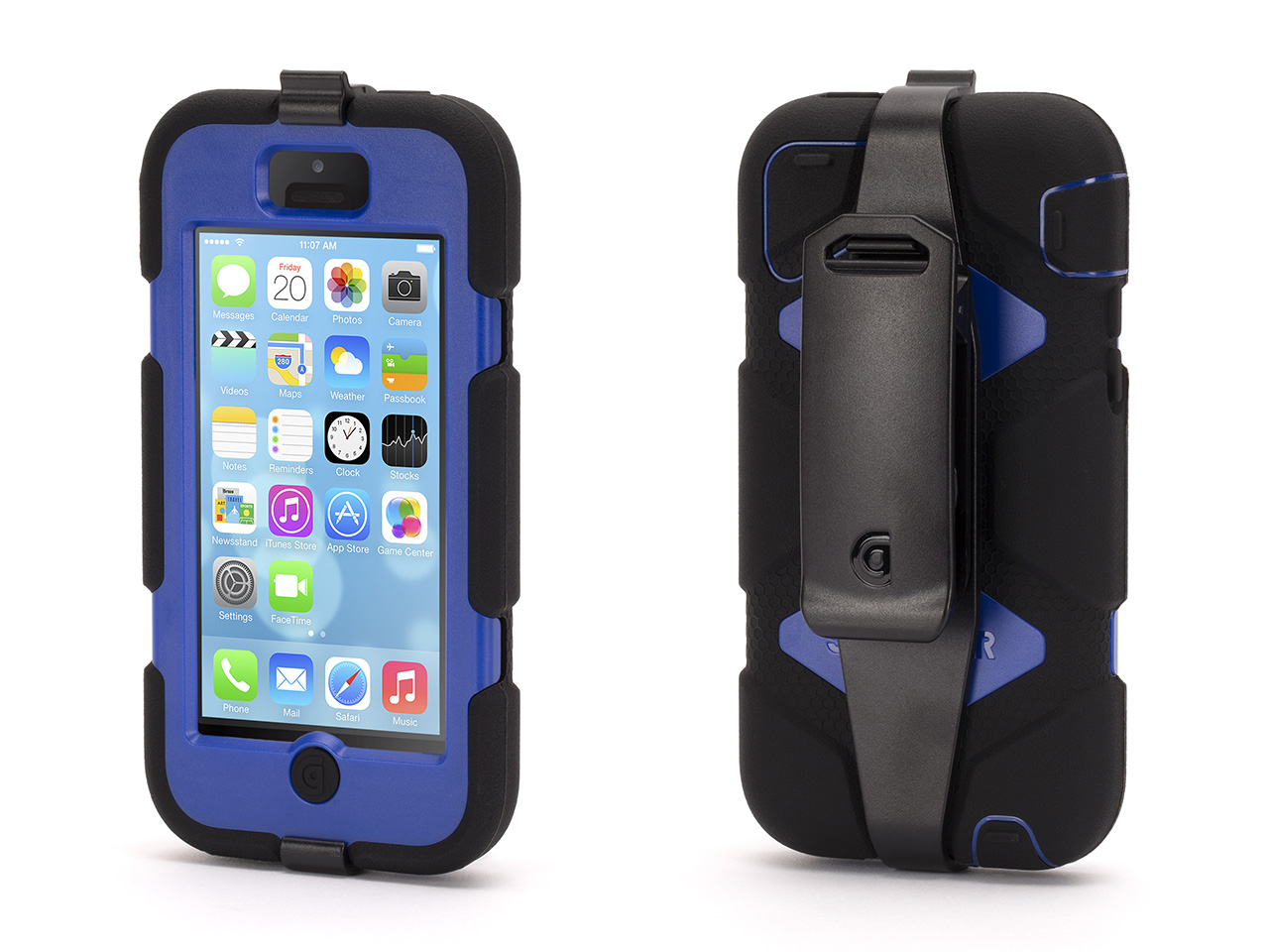 Simply put, Survivor is the most protective case we've ever built.Designed and tested to meet or exceed US Department of Defense Standard 810F, Griffin's Survivor Extreme-Duty Case is built from the inside out to protect your iPhone from extreme conditions ... dirt, sand, rain, shock, vibration and a host of other environmental factors.Survivor is built on a shatter-resistant polycarbonate frame clad in rugged, shock-absorbing silicone. A built-in screen protector seals your Multi-Touch display from the outside environment, while hinged plugs seal the dock connector, headphone port, hold switch and volume controls. A detachable heavy-duty clip secures your iPhone to a belt or bag strap.How well does Survivor perform? You can view videos and test results online at www.griffintechnology.com/survivor.