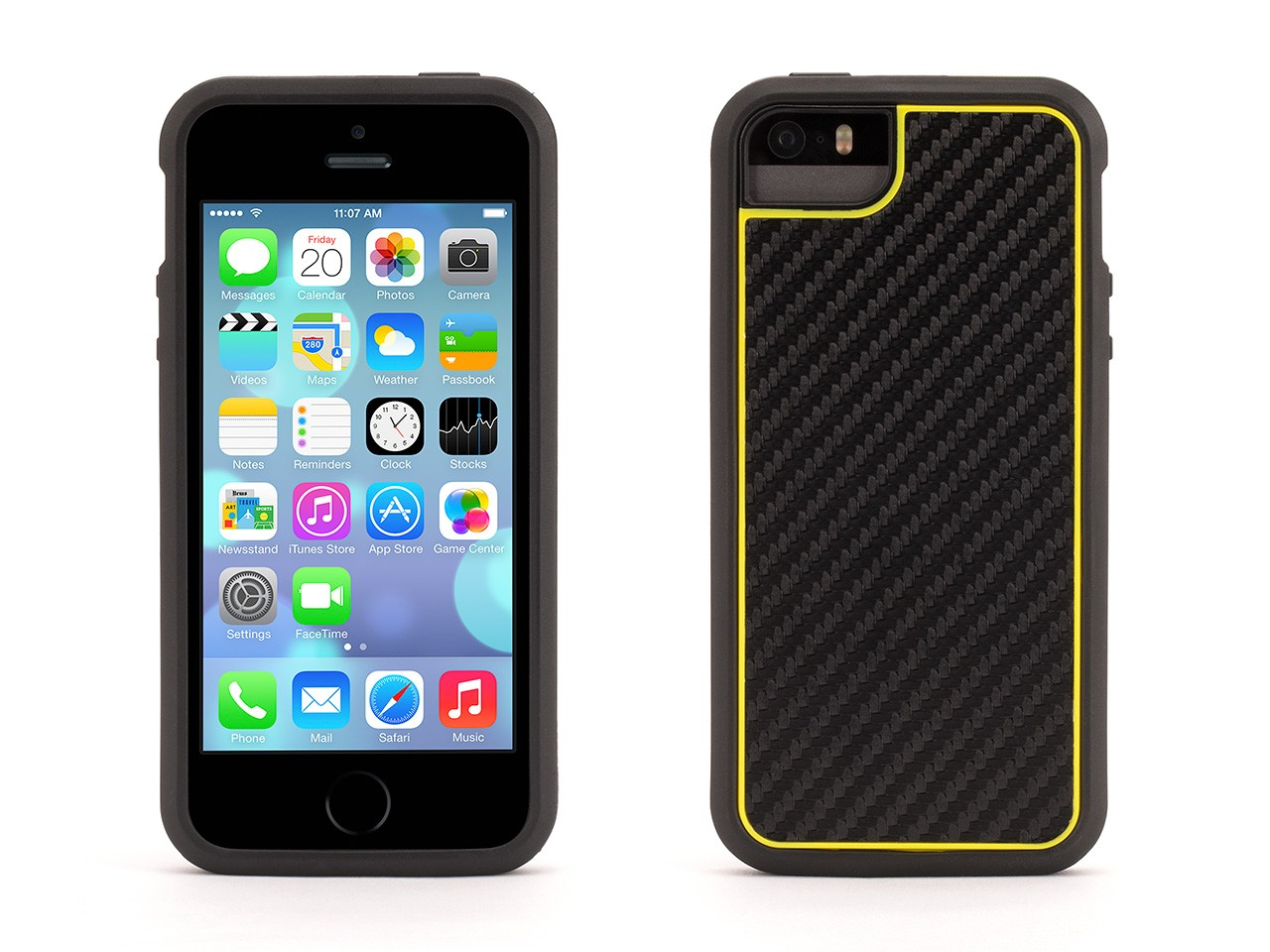 graphite yellow identity 2 piece protective case for iphone 5 5s iphone se ebay. Black Bedroom Furniture Sets. Home Design Ideas